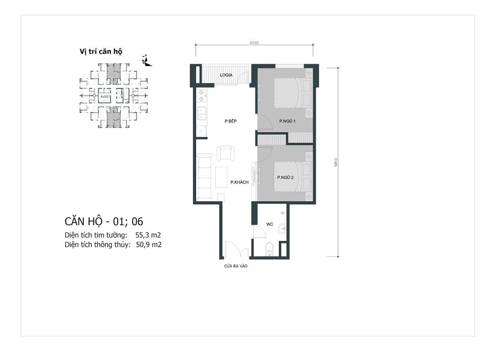 thiết kế chung cư mipec city view căn 01, 06