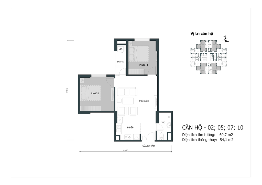 thiết kế chung cư mipec city view căn 02, 05, 07, 10