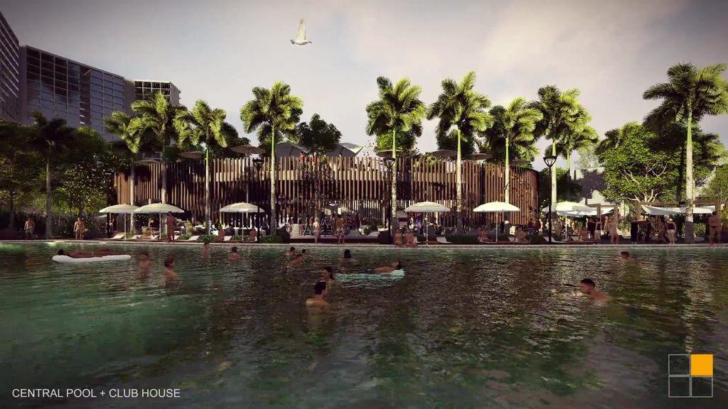 bể bơi dự án osho hồ tràm