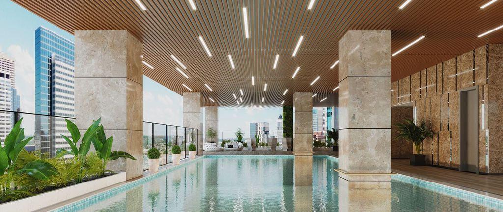 bể bơi 4 mùa chung cư bohemia residence
