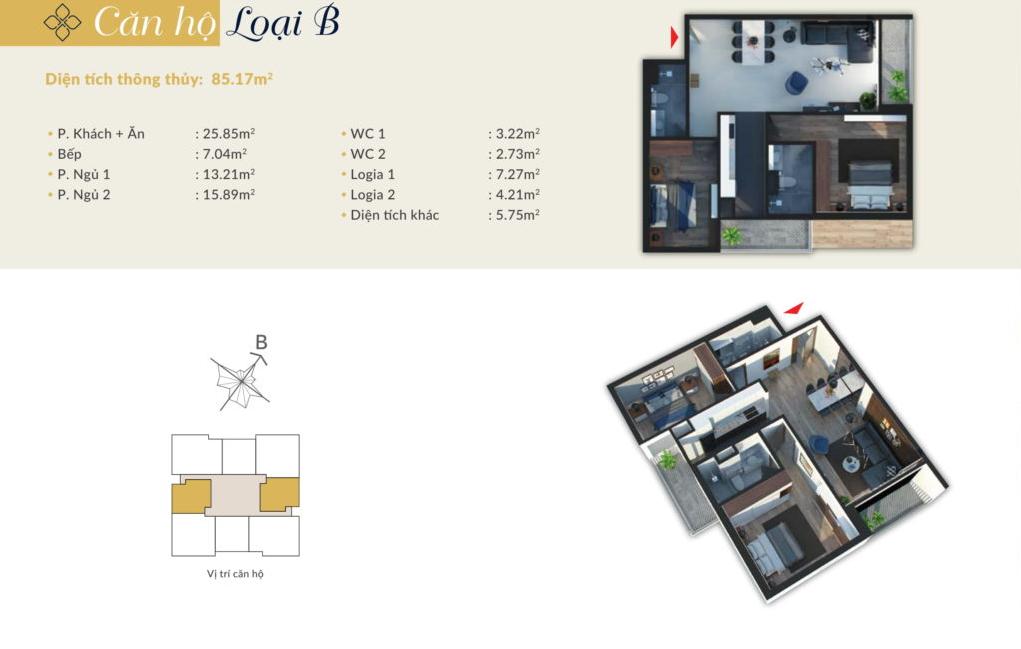 chung cư bohemia residence căn hộ b