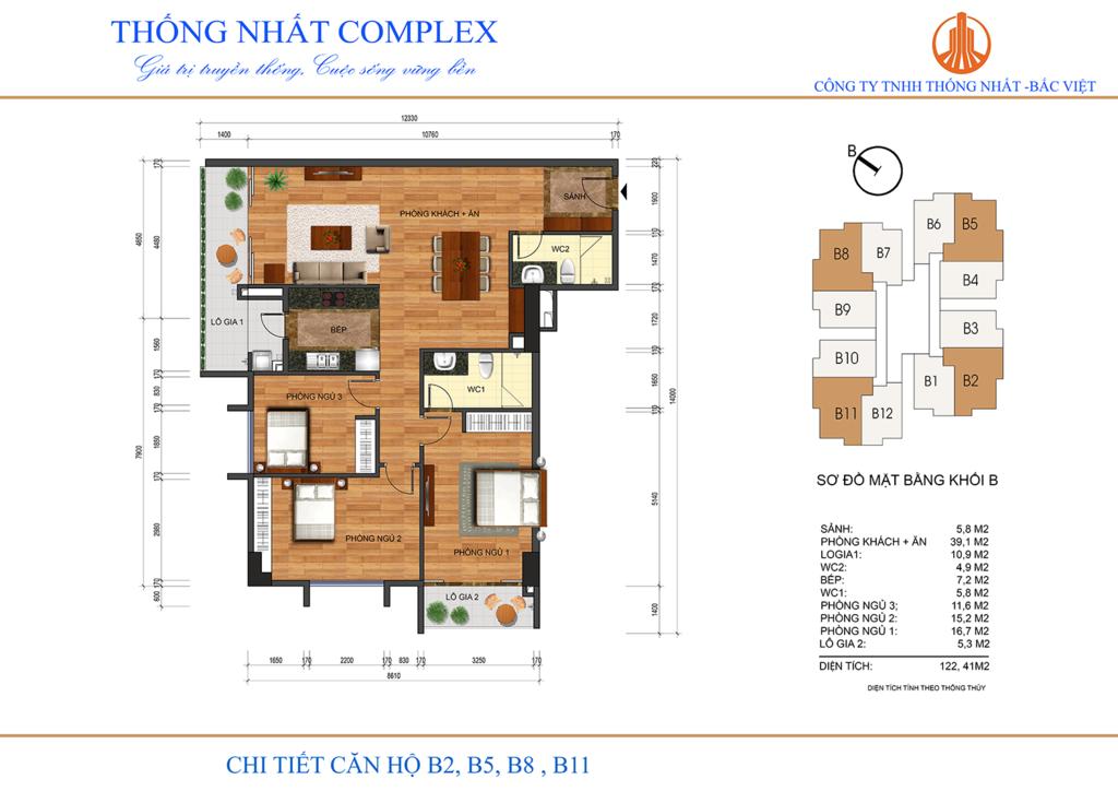 thiết kế căn hộ b2,b5,b8,b11 thống nhất complex