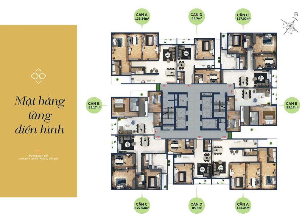 mặt bằng tổng thể chung cư bohemia residence