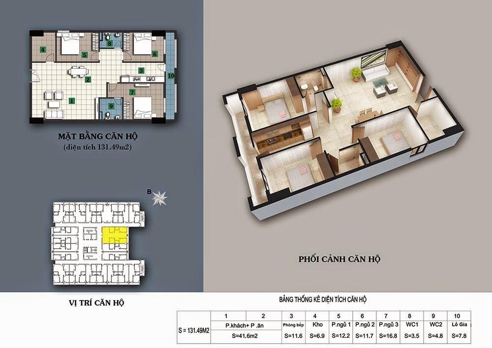 thiết kế chung cư 187 tây sơn căn 132m2