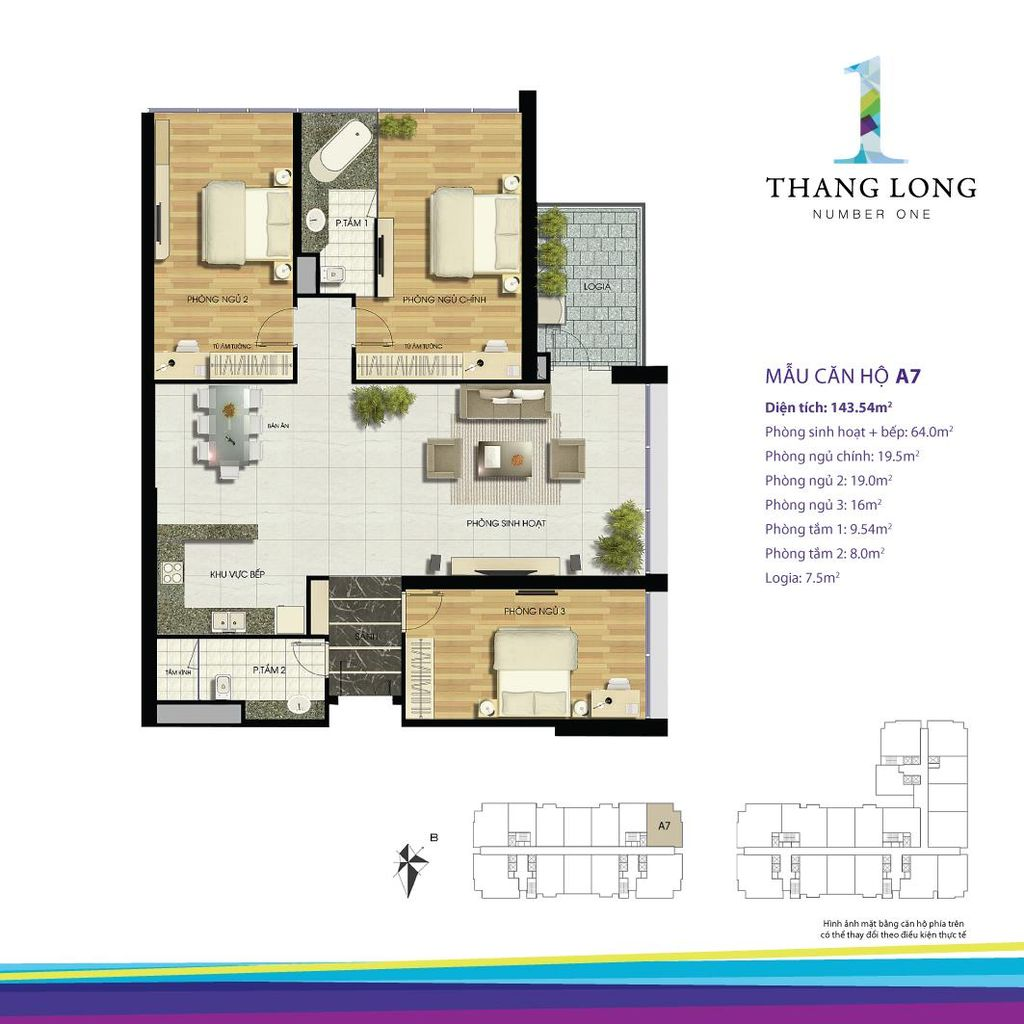 thiết kế chung cư thăng long number one căn a7