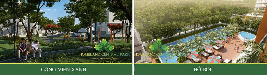 tiện ích dự án home land central park