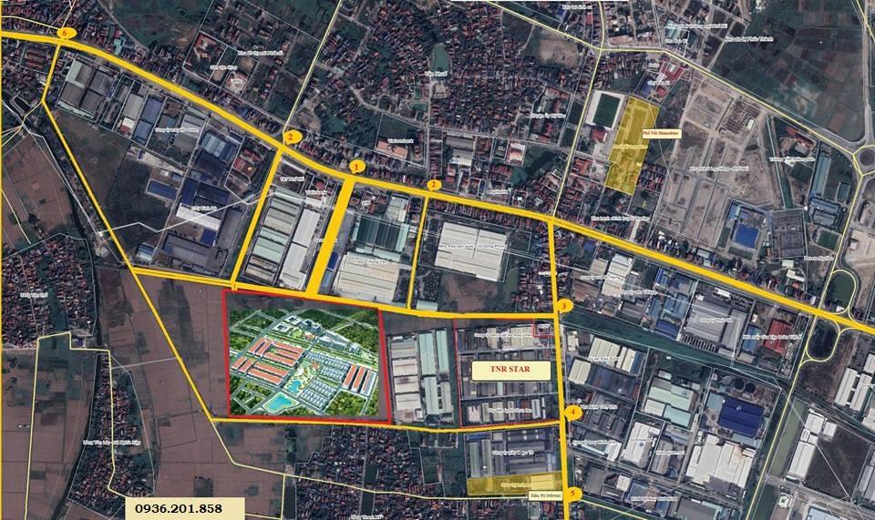 vị trí dự án phố nối house