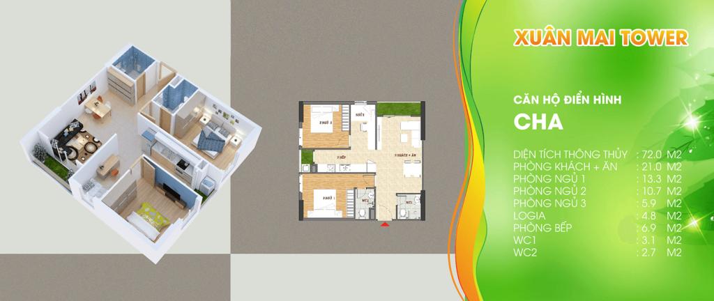 thiết kế xuân mai tower thanh hóa căn hộ a