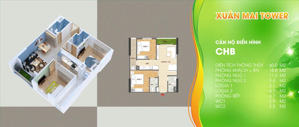 thiết kế xuân mai tower thanh hóa căn hộ b