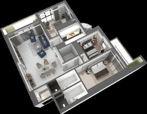 thiết kế chung cư hateco laroma căn ch10