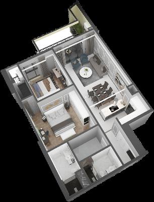 thiết kế chung cư hateco laroma căn ch11