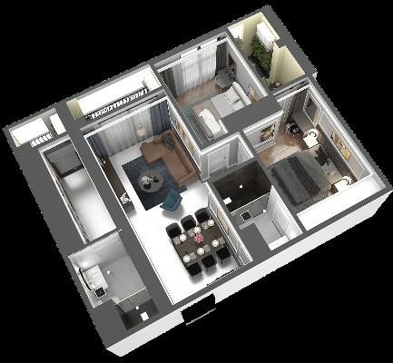 thiết kế chung cư hateco laroma căn ch04