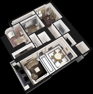 thiết kế chung cư hateco laroma căn ch06