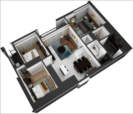 thiết kế chung cư hateco laroma căn ch07