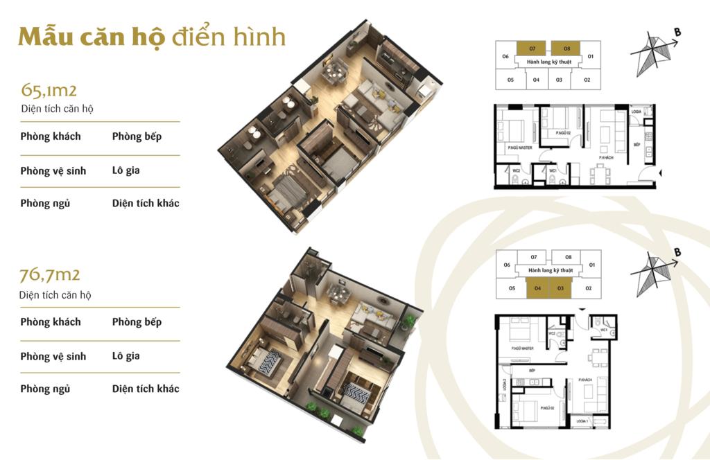 thiết kế căn hộ 2 ngủ chung cư the terra hào nam
