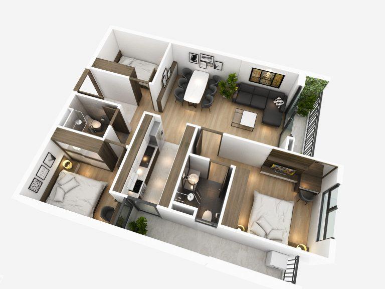 thiết kế căn hộ chung cư tsg lotus sài đồng