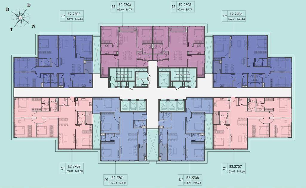 mặt bằng chung cư d el dorado 2 tầng 27