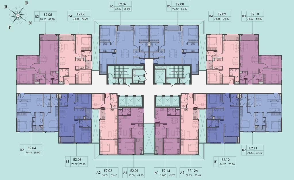 mặt bằng chung cư d el dorado 2 tầng 9-26