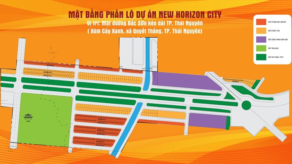 mặt bằng đất nền new horizon city