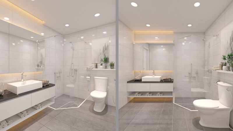 phòng tắm hà nội paragon