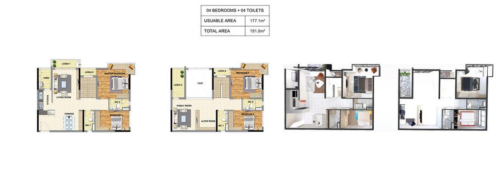 thiết kế chung cư luxury park view căn 4 ngủ
