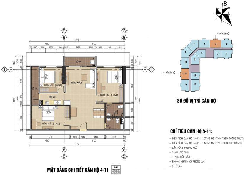 thiết kế chung cư thăng long city căn 4,11