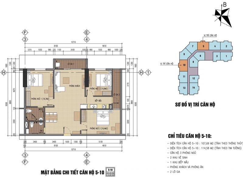 thiết kế chung cư thăng long city căn 5,10