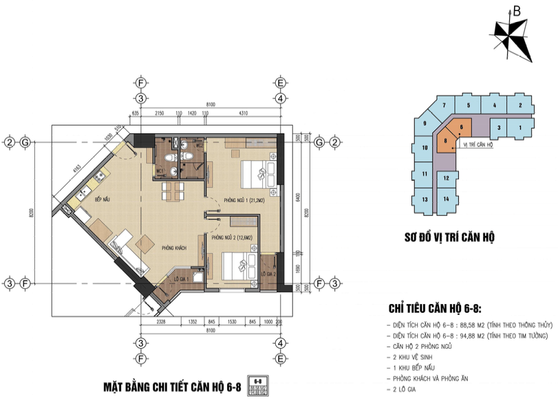 thiết kế chung cư thăng long city căn 6,8