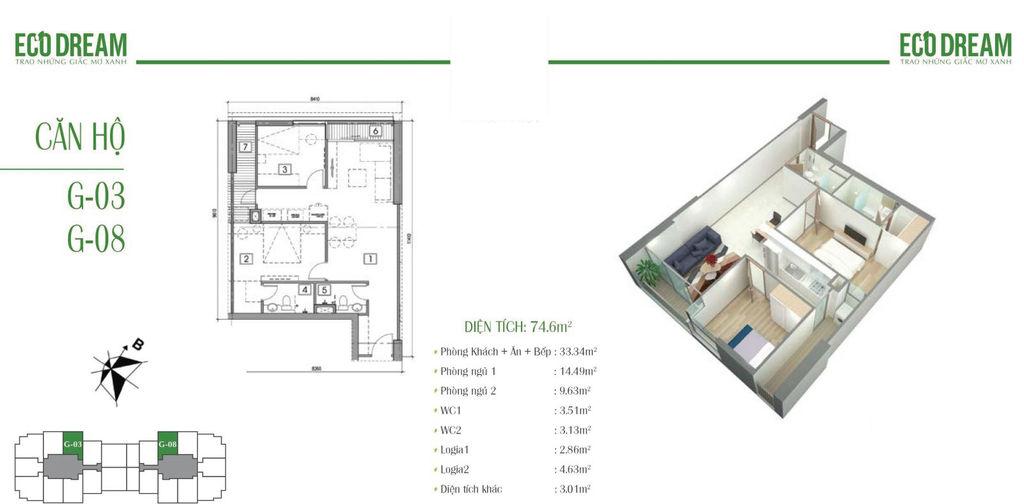 thiết kế căn hộ eco dream