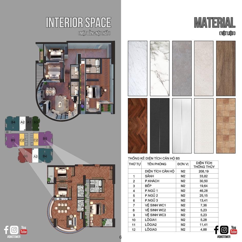 thiết kế căn hộ qms tower 2