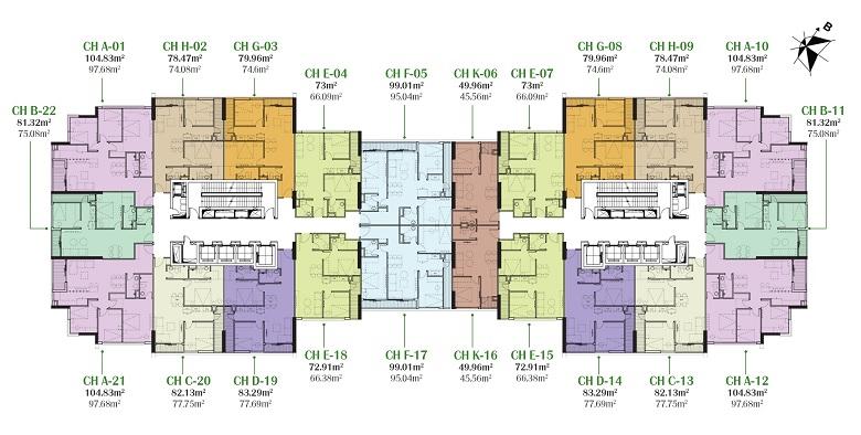 mặt bằng chung cư eco dream nguyễn xiển