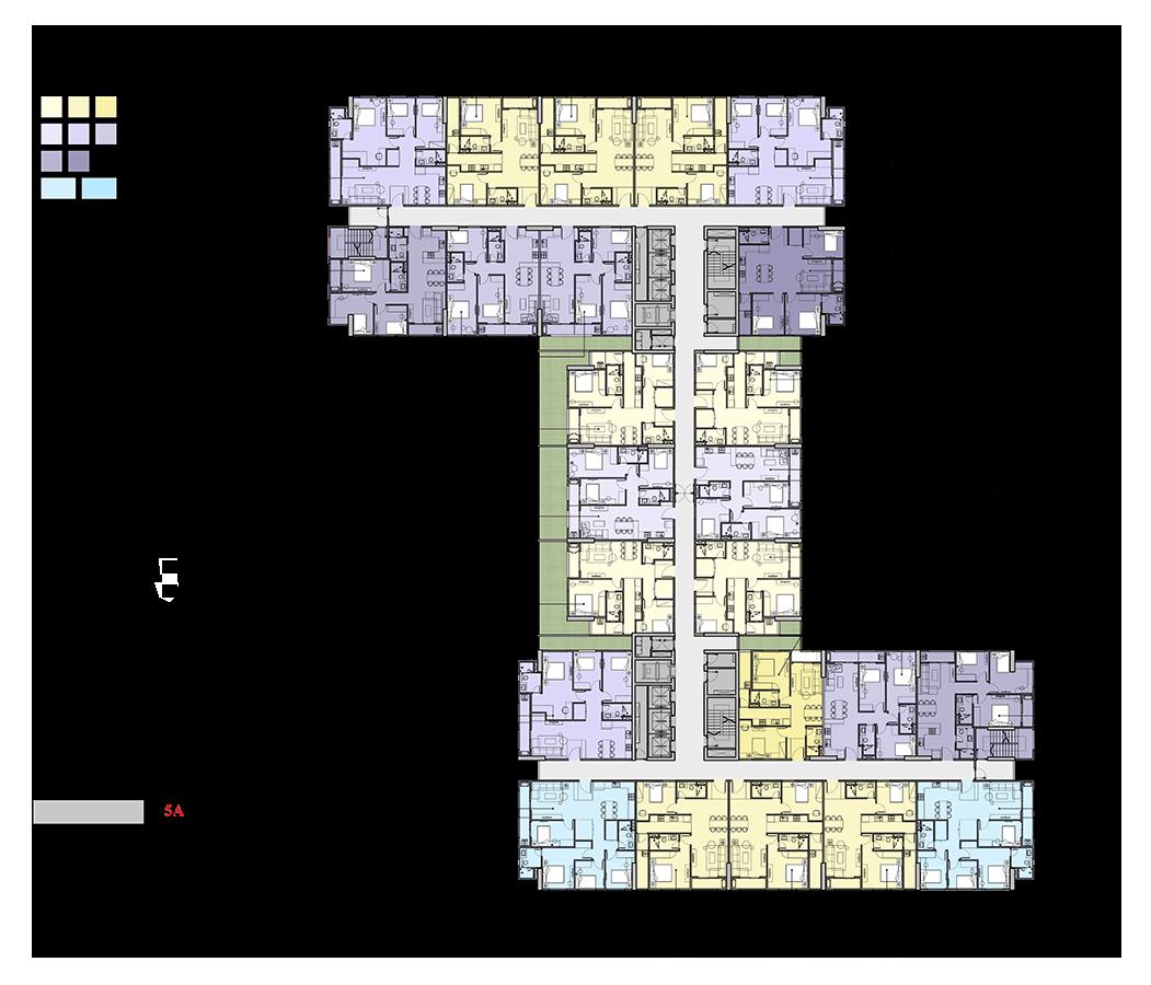 mặt bằng tầng 5a chung cư florence tower