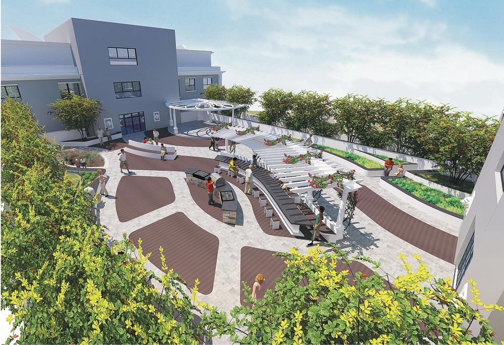 sân vườn dự án florence tower