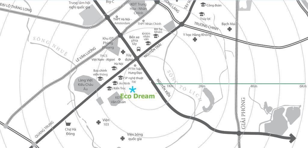 vị trí eco dream nguyễn xiển