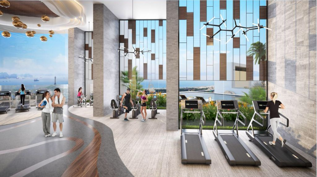 phòng gym condotel best western plus sail ha long bay