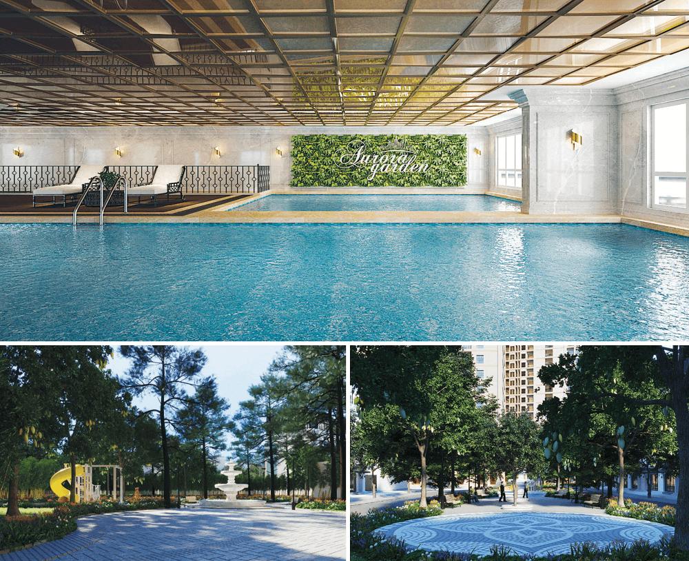 bể bơi chung cư aurora garden