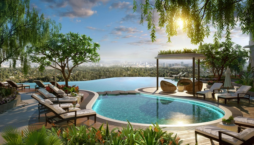 bể bơi vô cực the zen residence