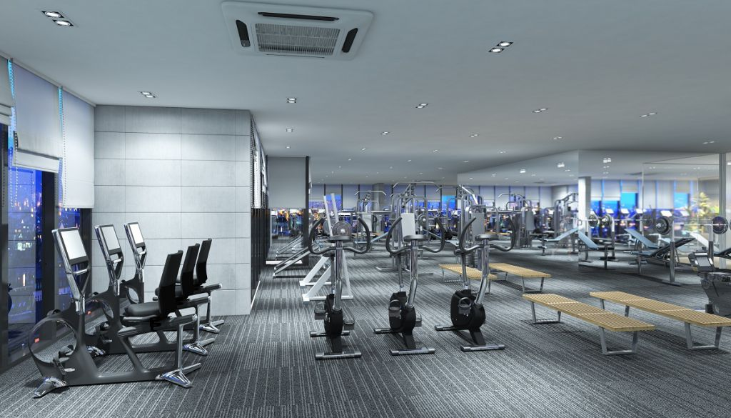 gym chung cư the luxury tower