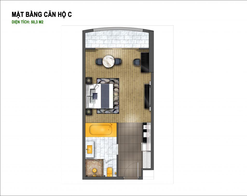 thiết kế hà nội golden lake căn hộ c