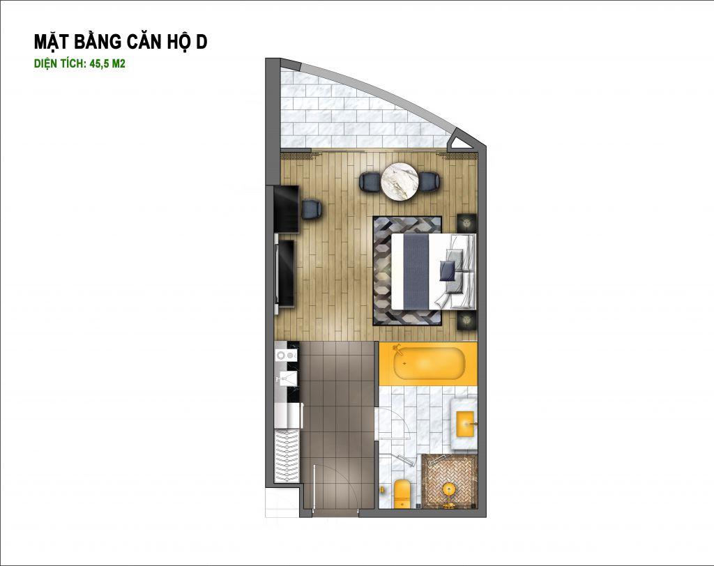 thiết kế hà nội golden lake căn hộ d
