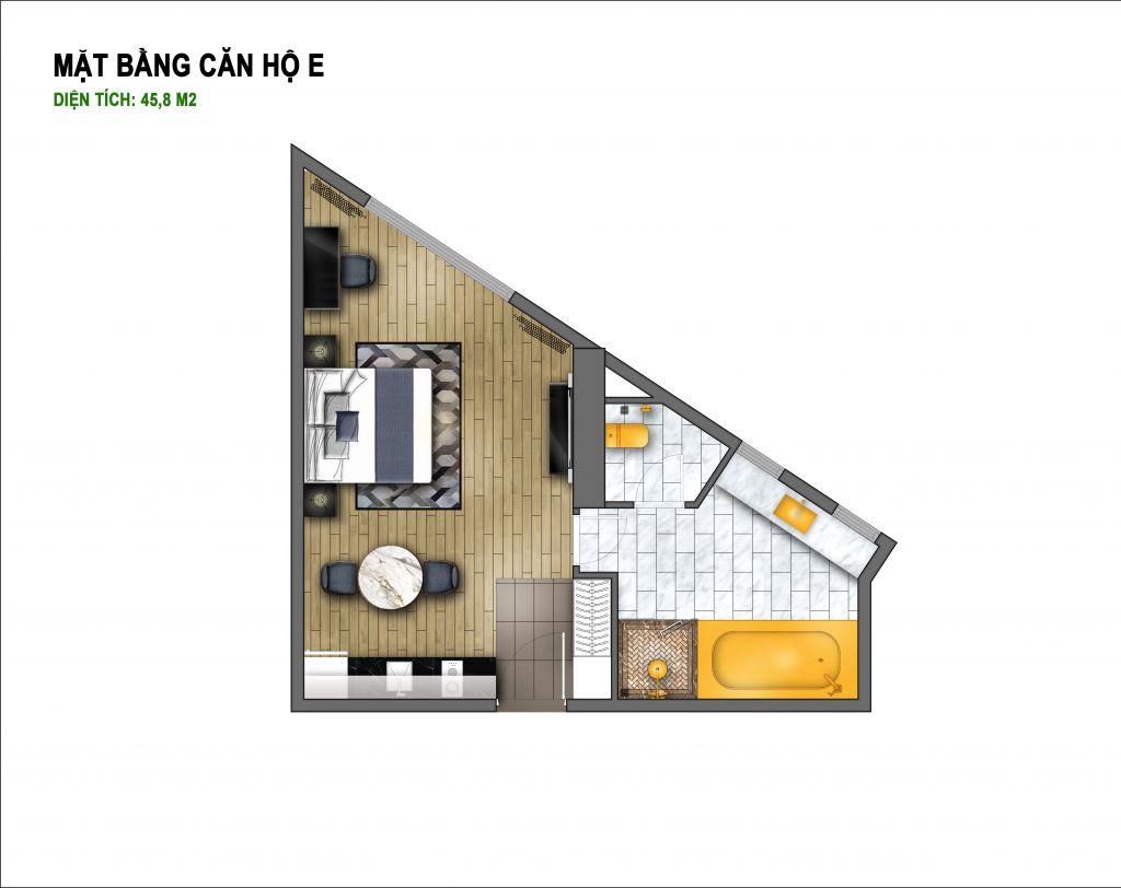 thiết kế hà nội golden lake căn hộ e
