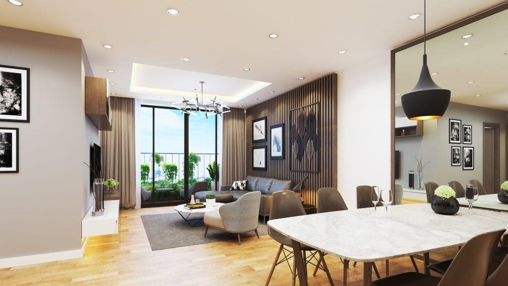 phòng khách chung cư aurora garden