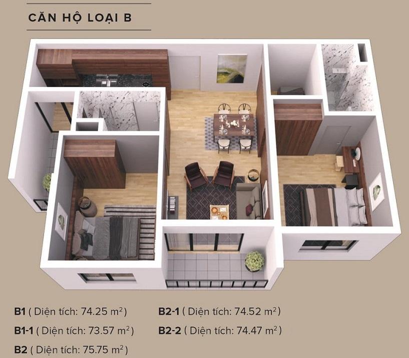thiết kế căn hộ chung cư the zen residence