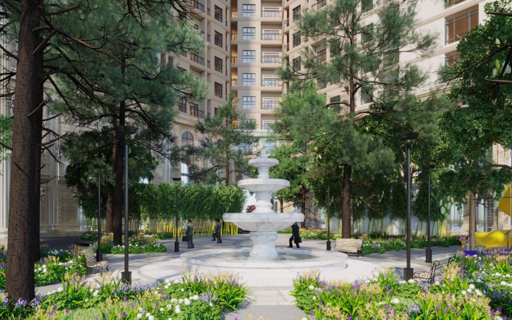 đài phun nước aurora garden