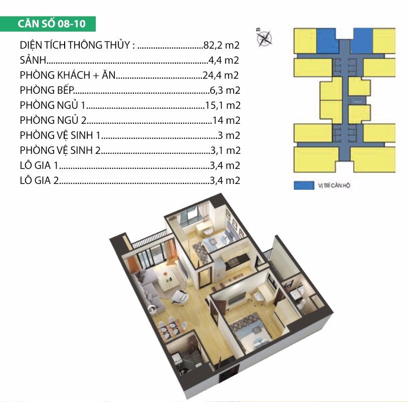 thiết kế chung cư housinco premium căn 7,8, 9, 10