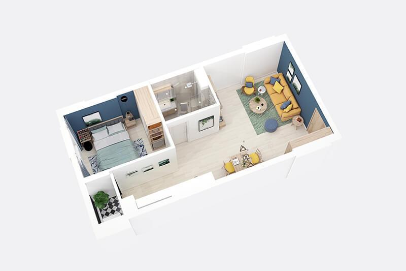 thiết kế căn hộ chung cư flc tropical city