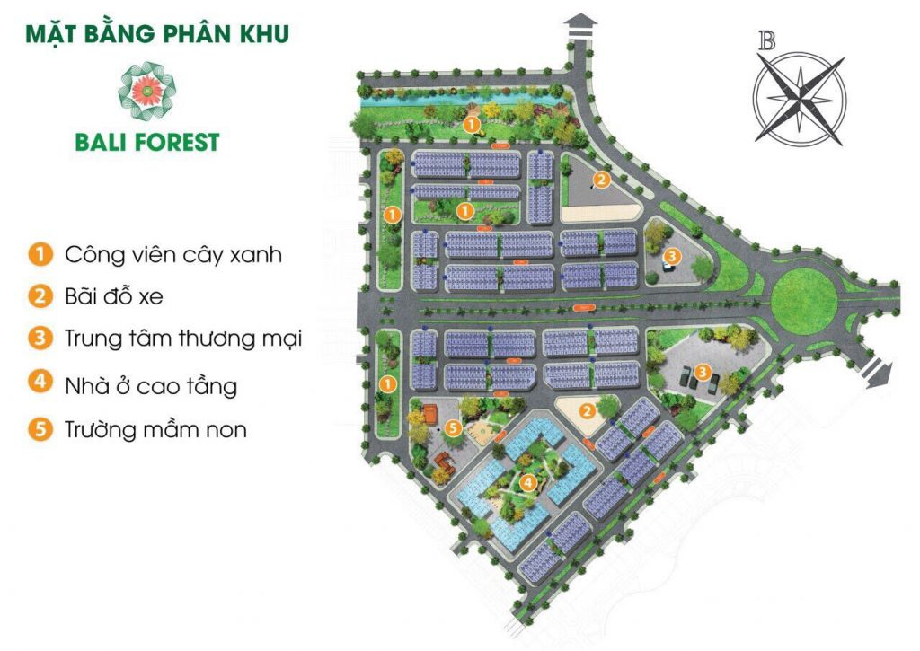 phân khu bali forest - flc tropical city