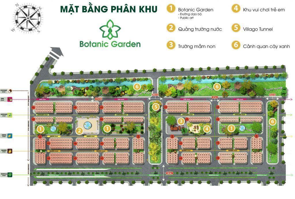 flc tropical city mặt bằng phân khu botanic garden