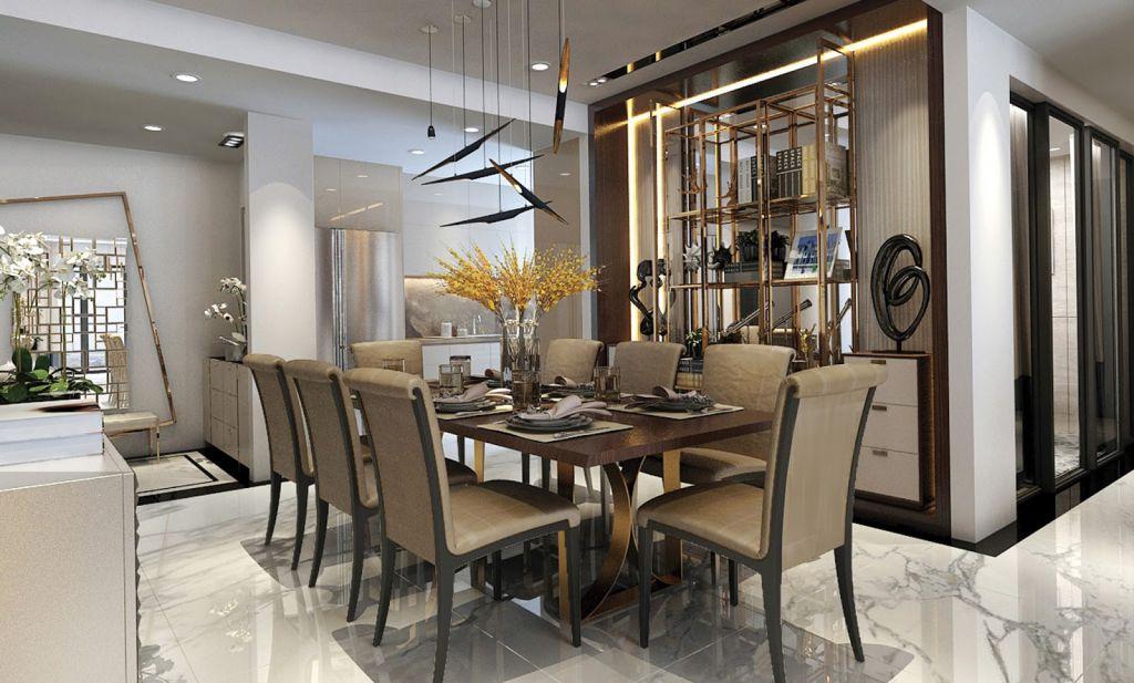 phòng ăn chung cư sunshine boulevard