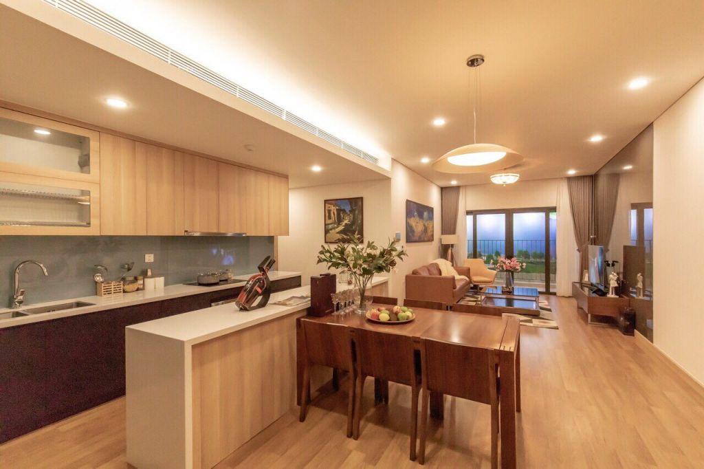 phòng khách căn hộ cho thuê sky park residence